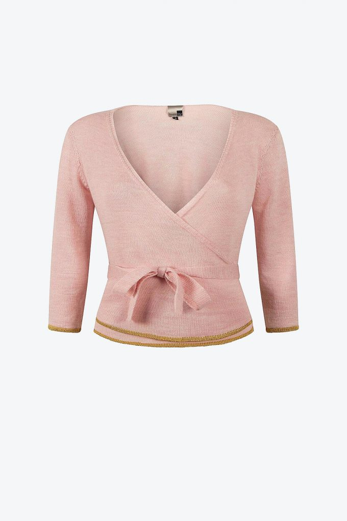 Blossom Pink Wrap Top Sweety A