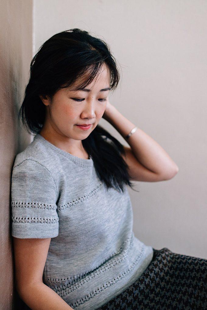 Classical Feminine Short Sleeve Jumper Sweety Grey D