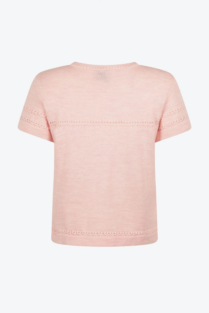 Classical Feminine Short Sleeve Jumper Sweety Pink B