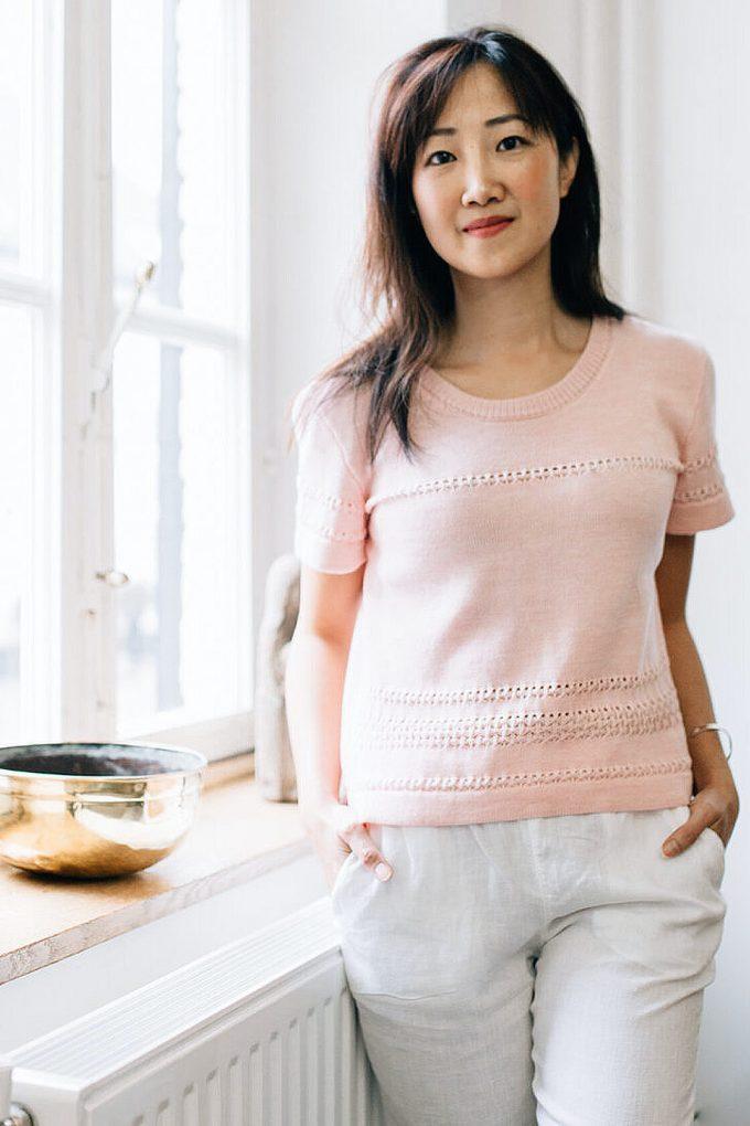Classical Feminine Short Sleeve Jumper Sweety Pink C
