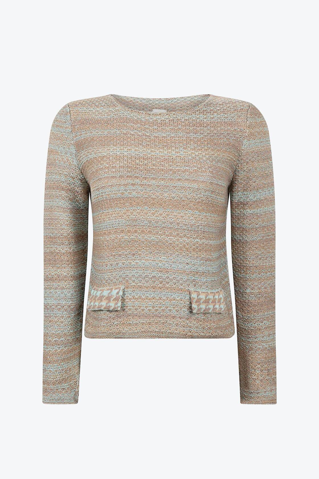 Elegant Knitted Jumper In Audrey Hepburn Style Tweed Fair