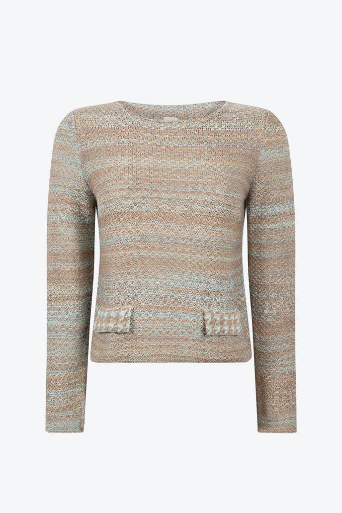 Elegant Knitted Jumper In Audrey Hepburn Style Tweed Fair A