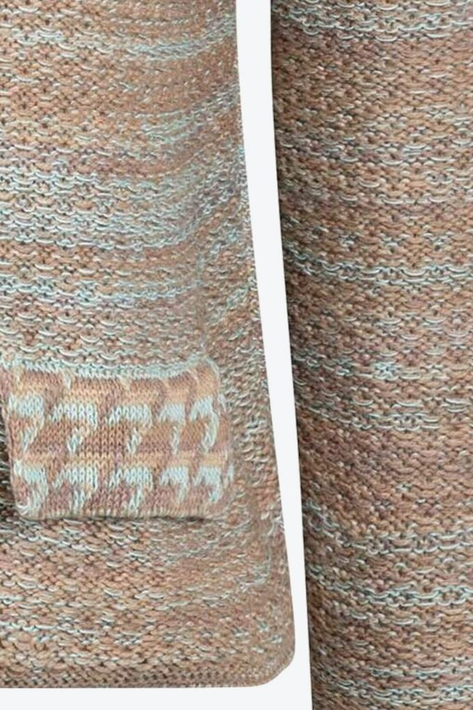 Elegant Knitted Jumper In Audrey Hepburn Style Tweed Fair B