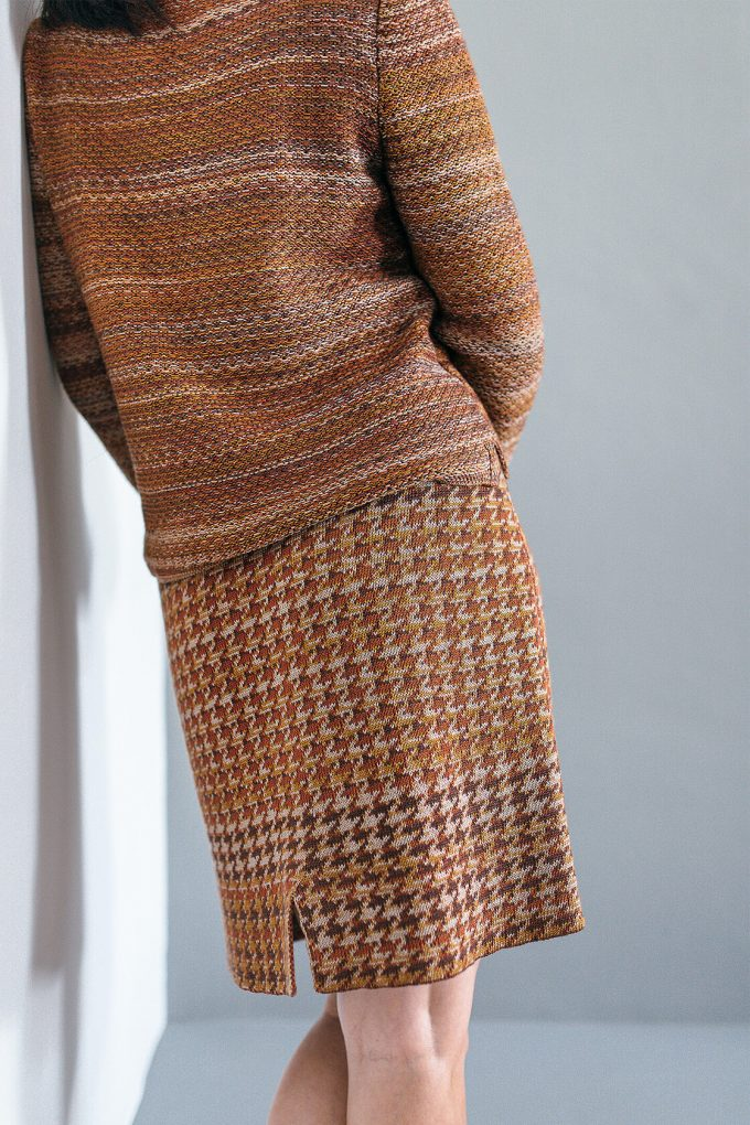Elegant Knitted Jumper In Audrey Hepburn Style Tweed Ginger B