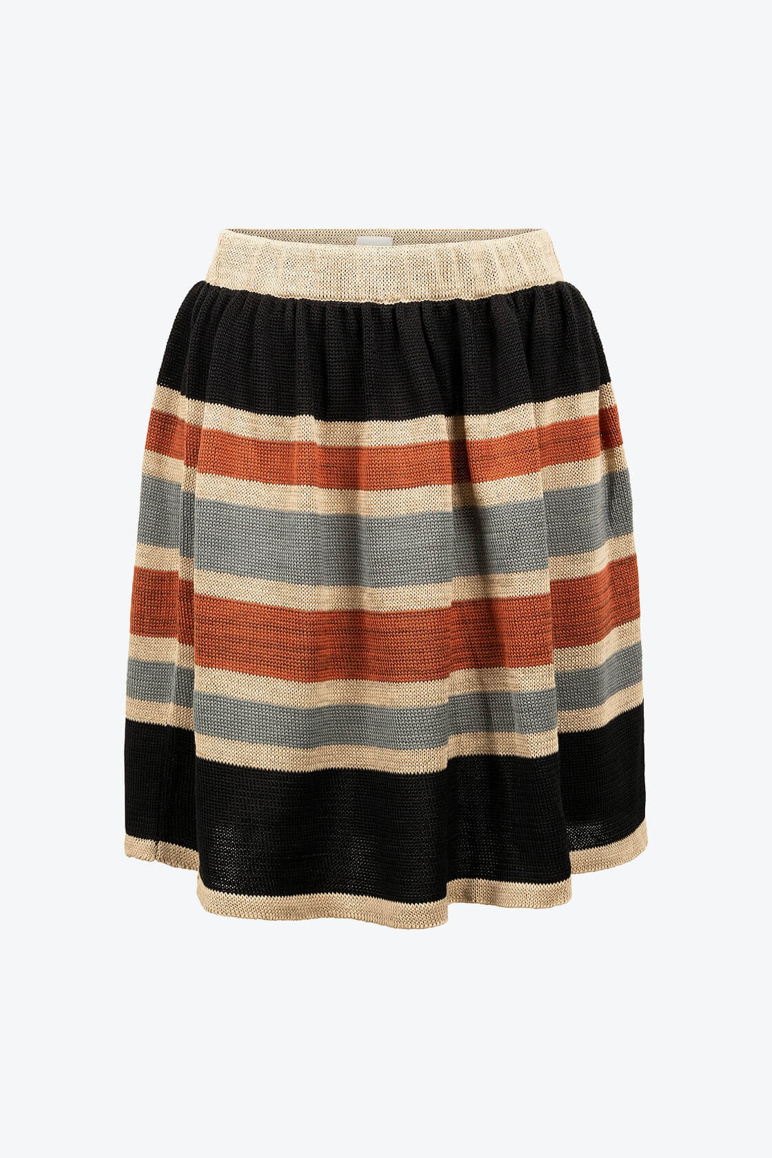 Knitted Swirly Linnen Skirt Bogolan