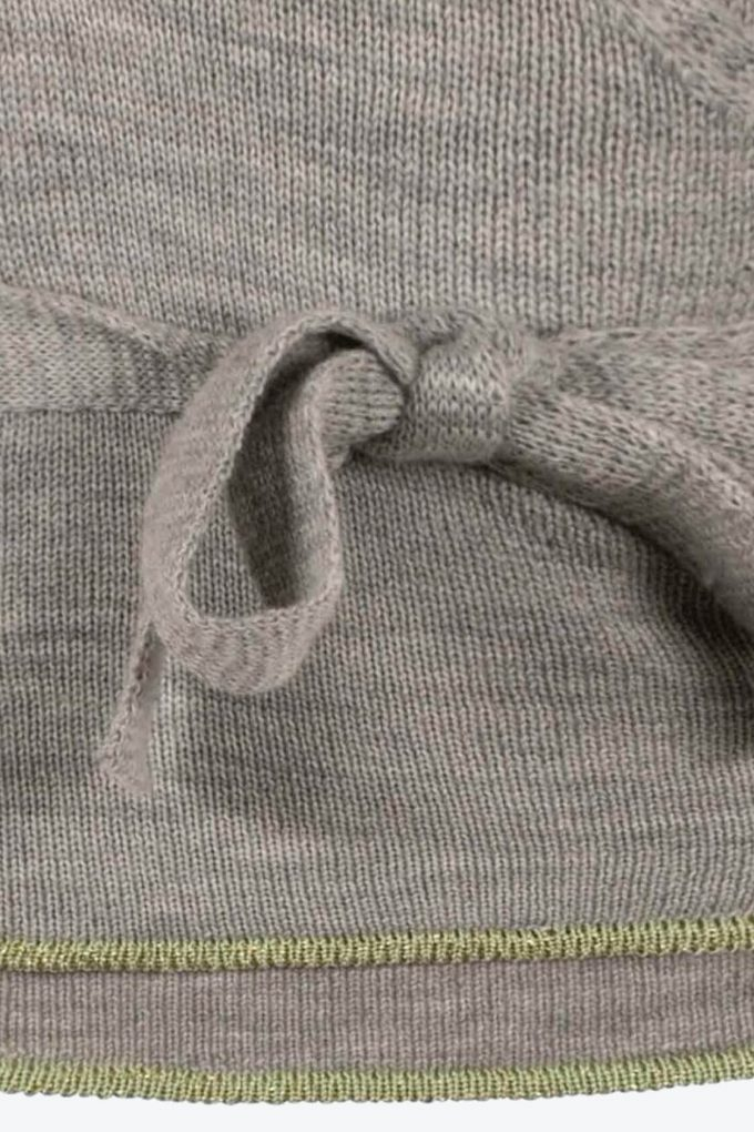Natural Grey Wrap Top Sweety C