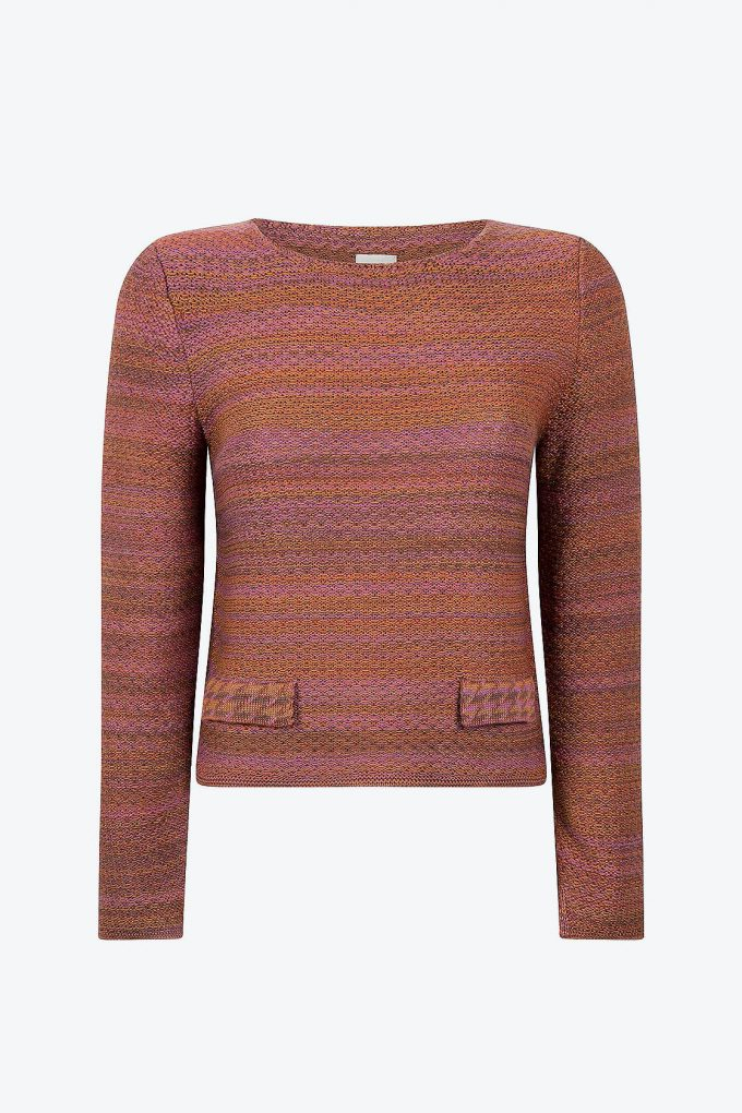 Timeless Feminine Jumper In Audrey Hepburn Style Tweed Heather A
