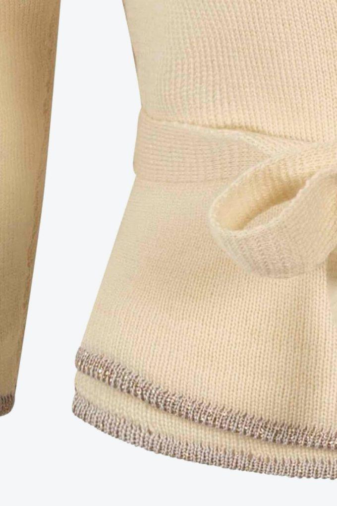 Wool White Wrap Top Sweety C