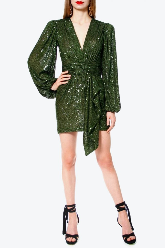 OL100002606 Dress Anastasia Vineyard Green2