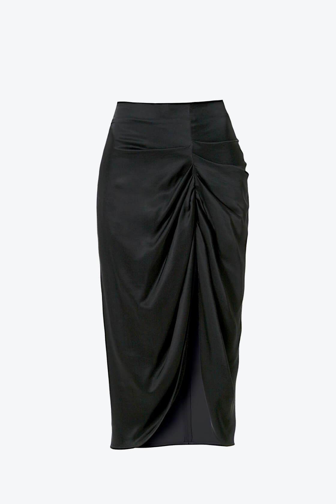 OL100002567 Skirt Katy Glossy Black1