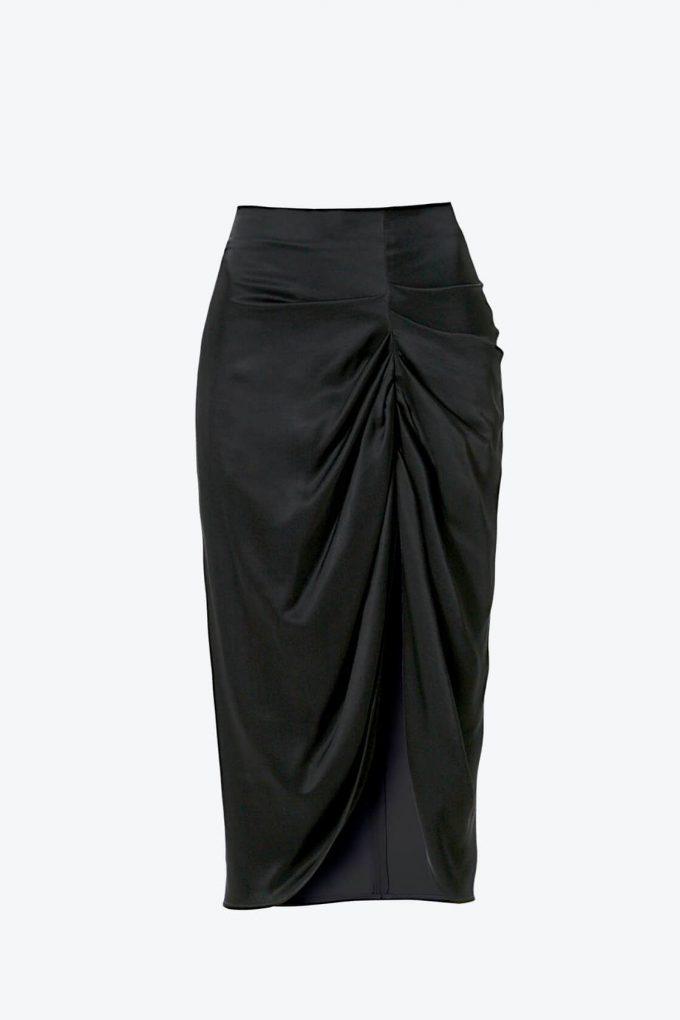 OL100002567 Skirt Katy Glossy Black1B