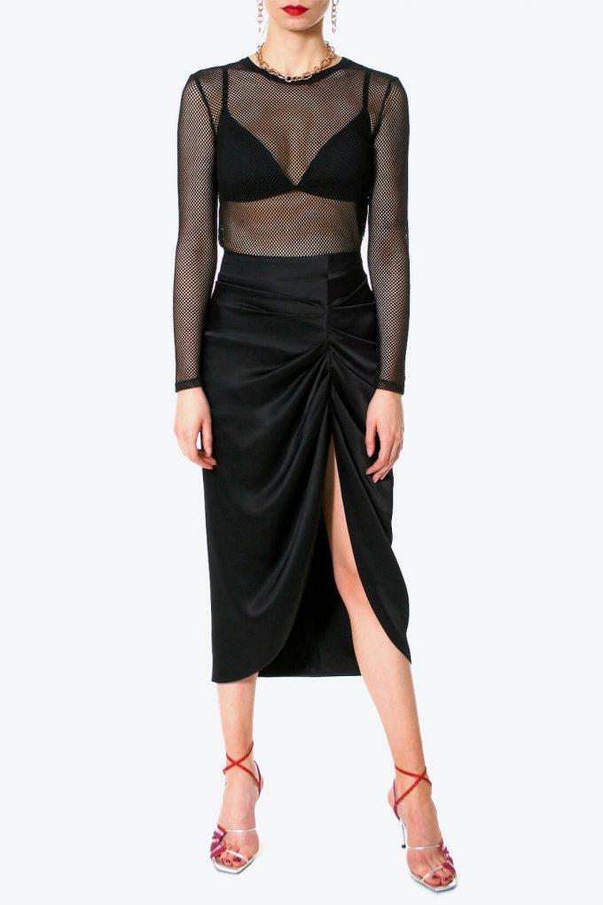 OL100002567 Skirt Katy Glossy Black2