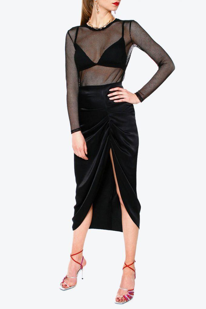 OL100002567 Skirt Katy Glossy Black3
