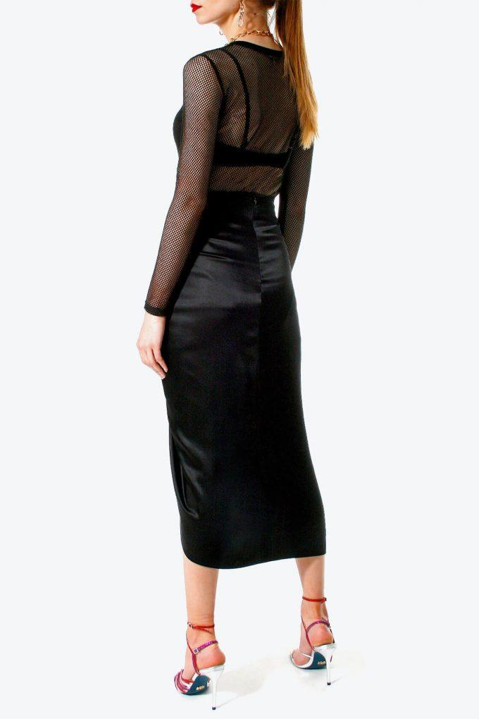 OL100002567 Skirt Katy Glossy Black4