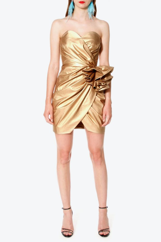 OL100002568 Dress Alessandra Vegas Gold2