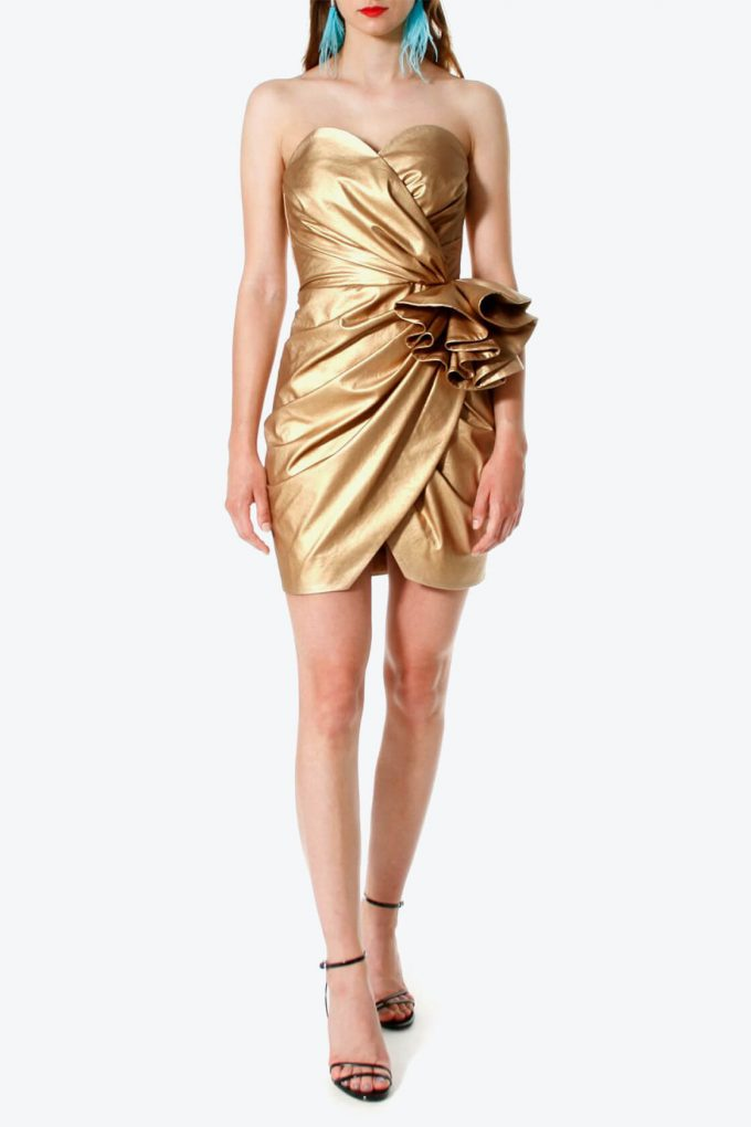 OL100002568 Dress Alessandra Vegas Gold4