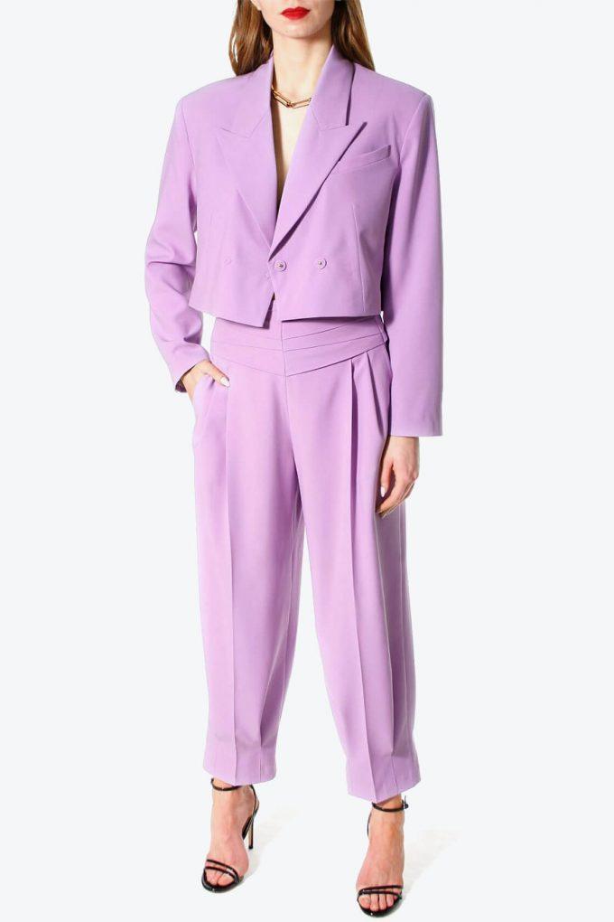 OL100002576 Trousers Bianca Viola2