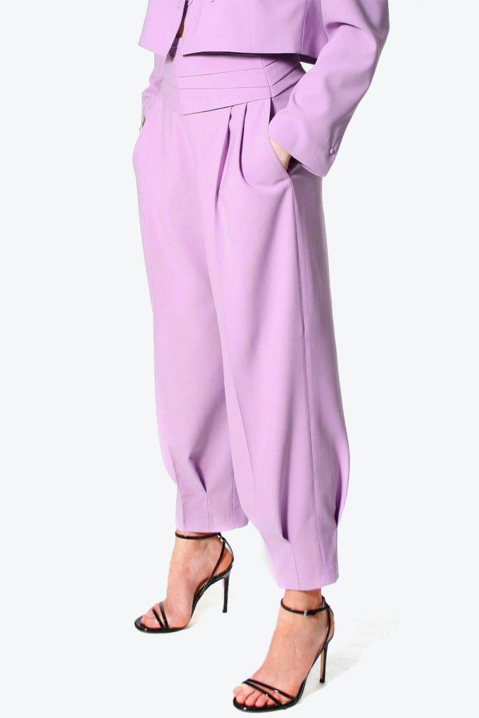 OL100002576 Trousers Bianca Viola4