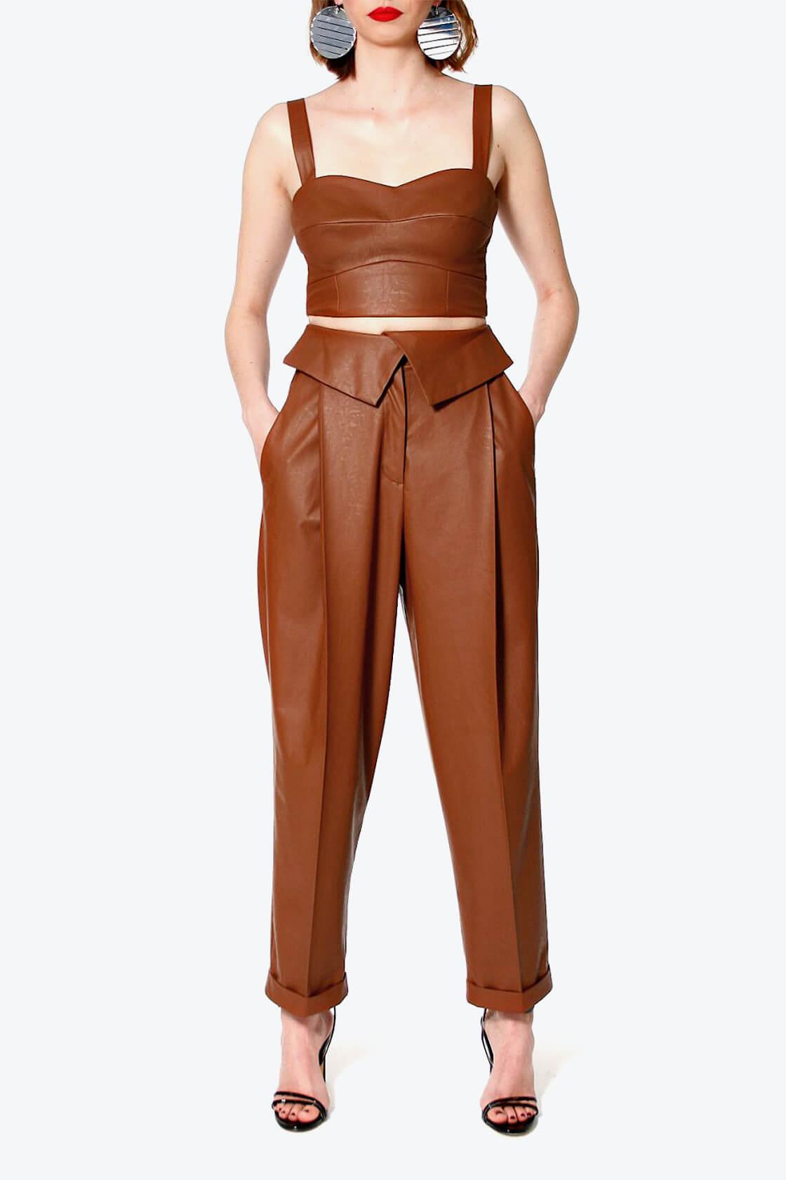OL100002598 Pants Xenia Raw Umber2