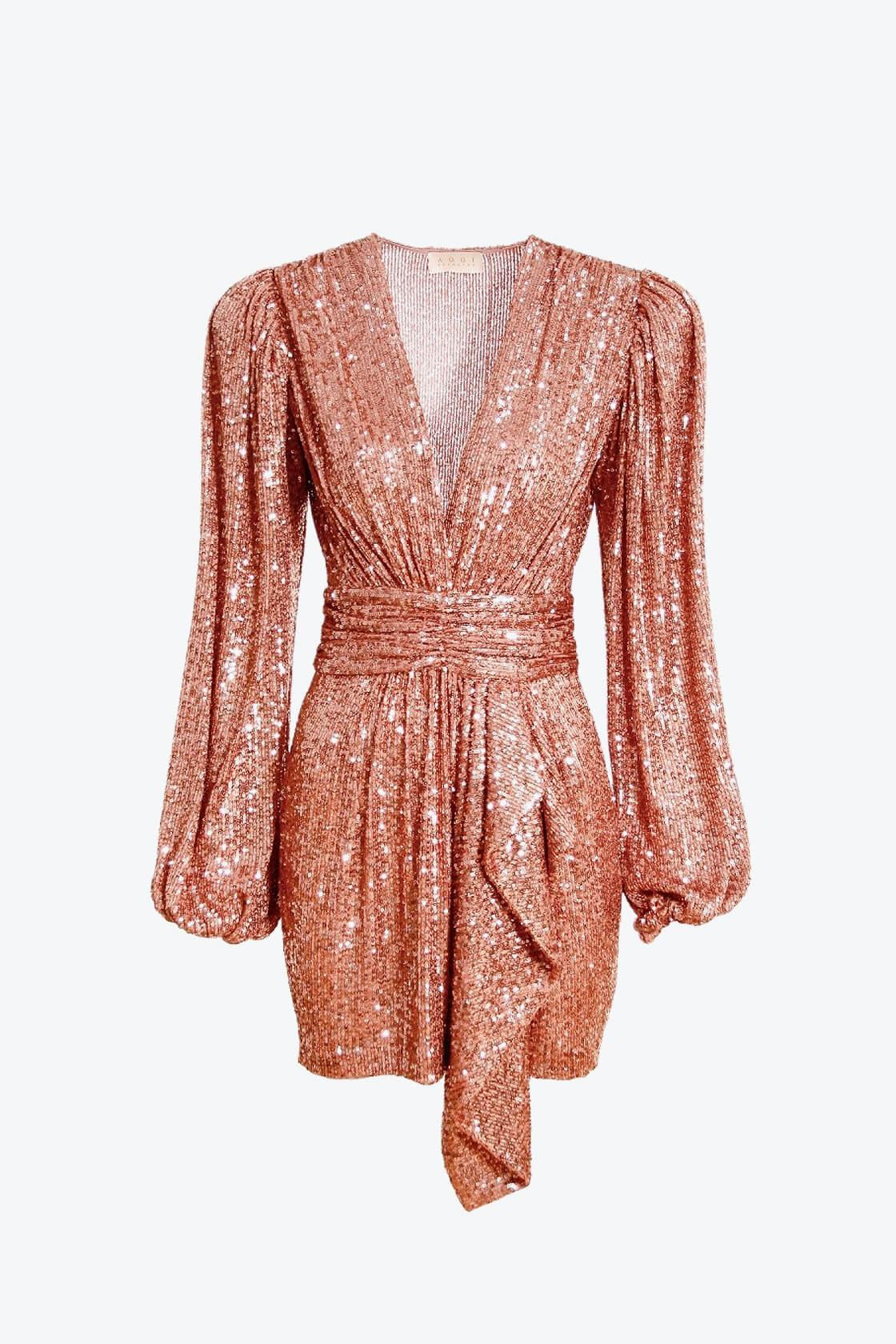 OL100002605 Dress Anastasia Apricot Brandy 1