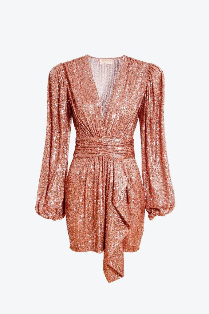 OL100002605 Dress Anastasia Apricot Brandy 1B