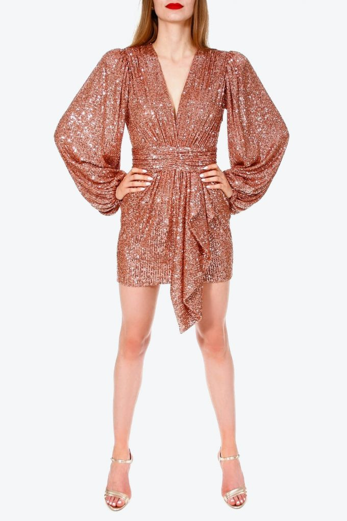 OL100002605 Dress Anastasia Apricot Brandy 2