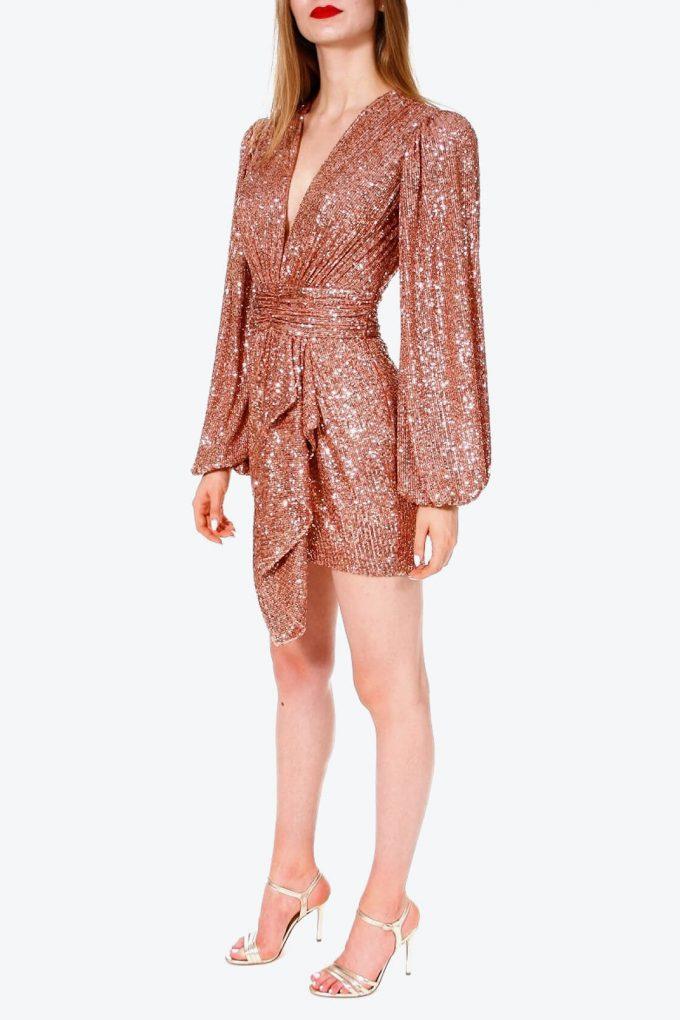 OL100002605 Dress Anastasia Apricot Brandy 3