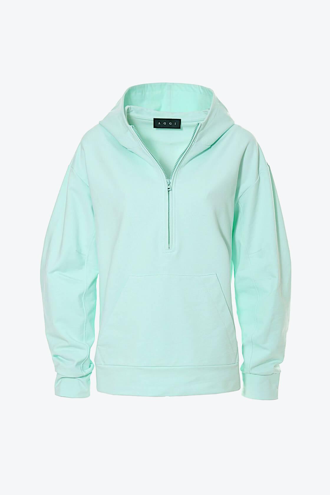 OL100002610 Hoodie Selena Frosty Mint 1