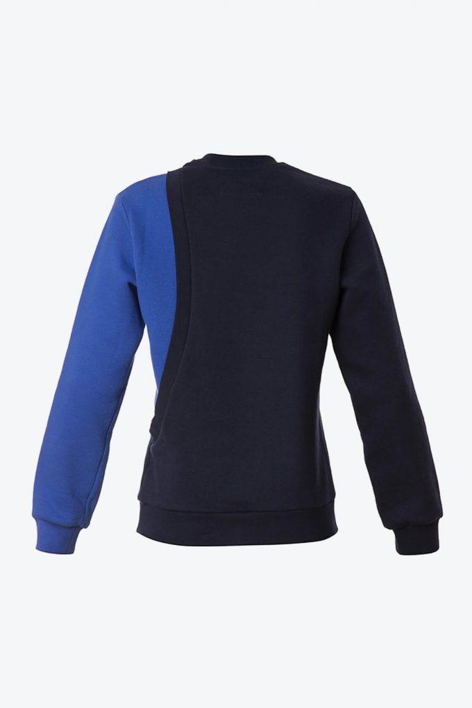 OL10000179 One sleeve sweatshirt blue2
