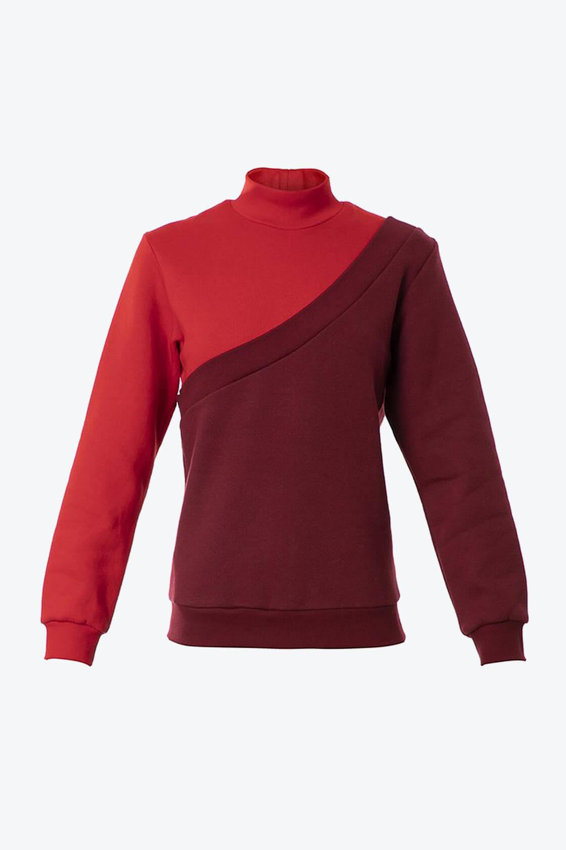 OL10000182 Diagonal sweatshirt red1