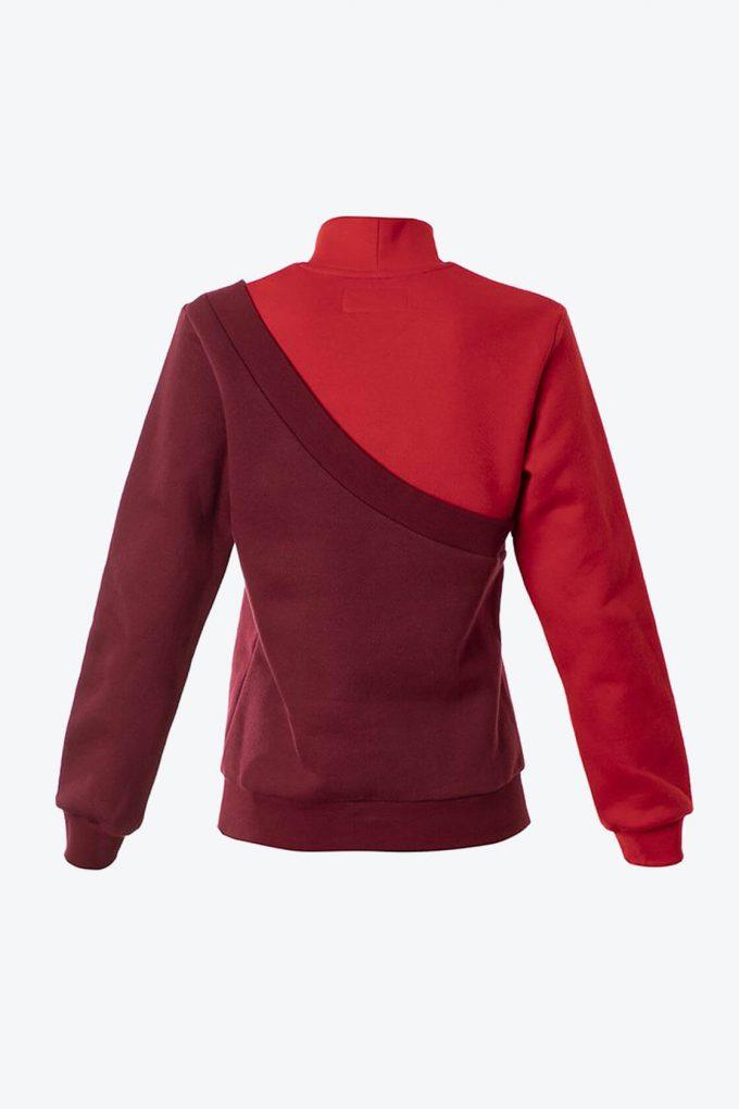 OL10000182 Diagonal sweatshirt red2