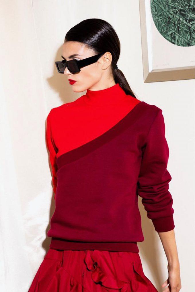 OL10000182 Diagonal sweatshirt red3