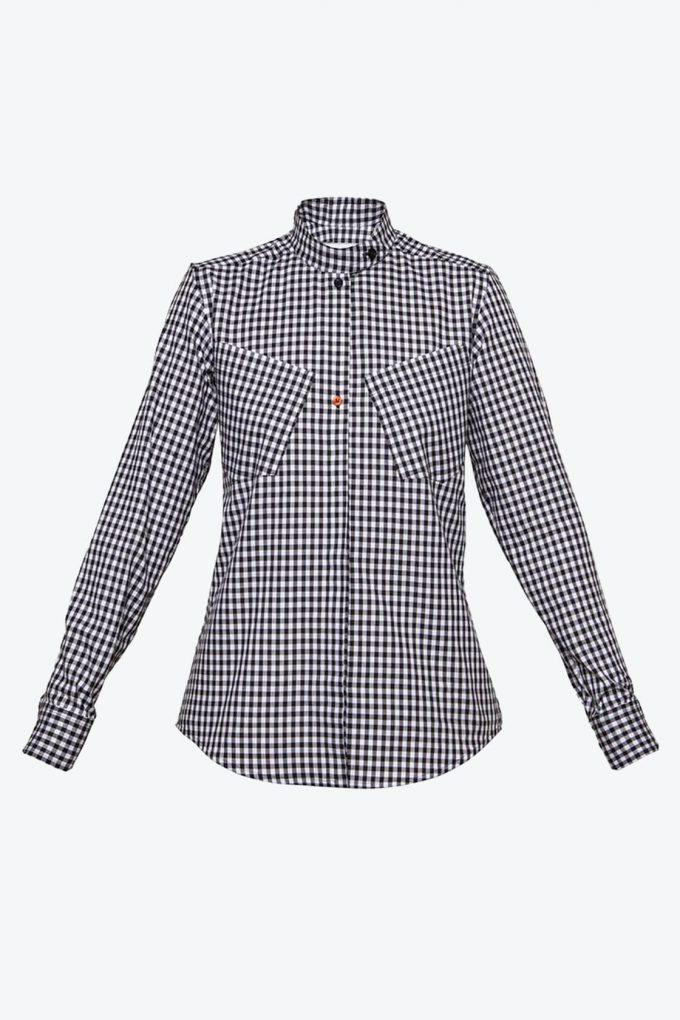 OL10000186 Gingham shirt1B
