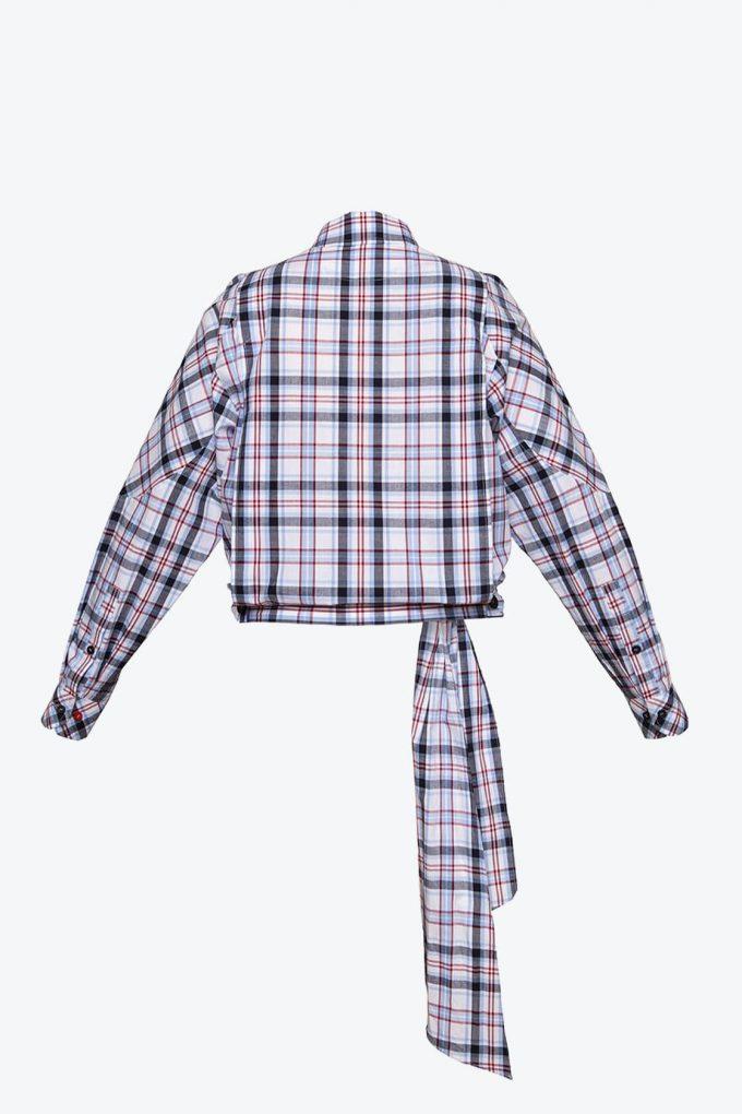 OL10000188 Low waist blouse plaid2
