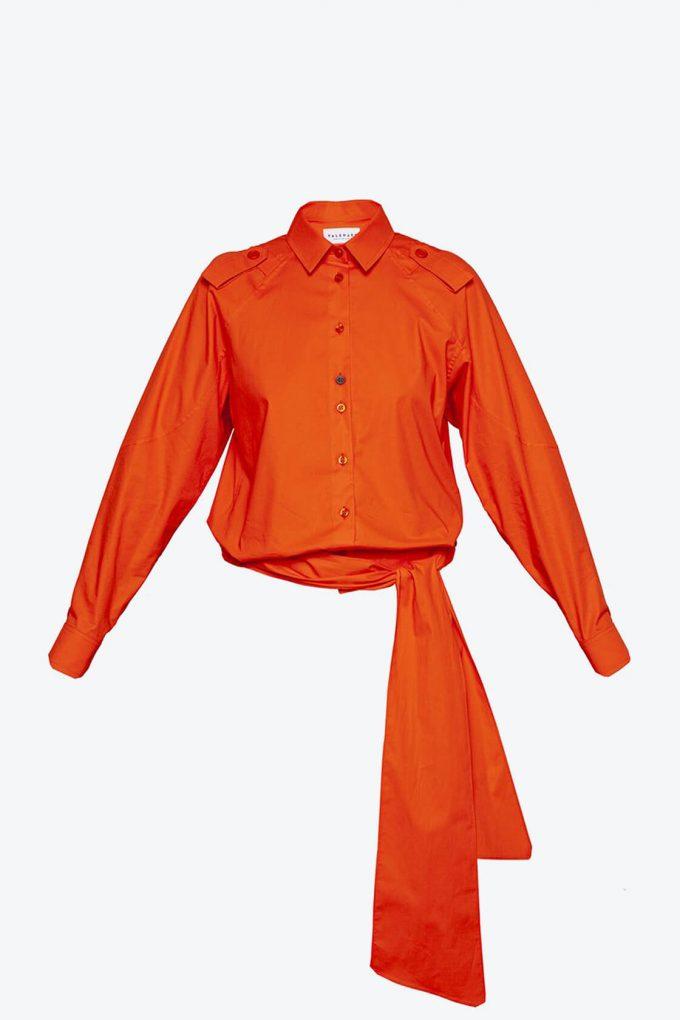 OL10000189 Low waist blouse orange1B