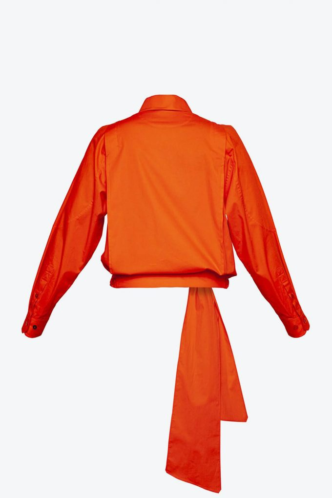 OL10000189 Low waist blouse orange2