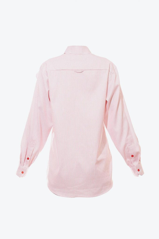 OL10000190 Oversized dotted ruffle shirt2