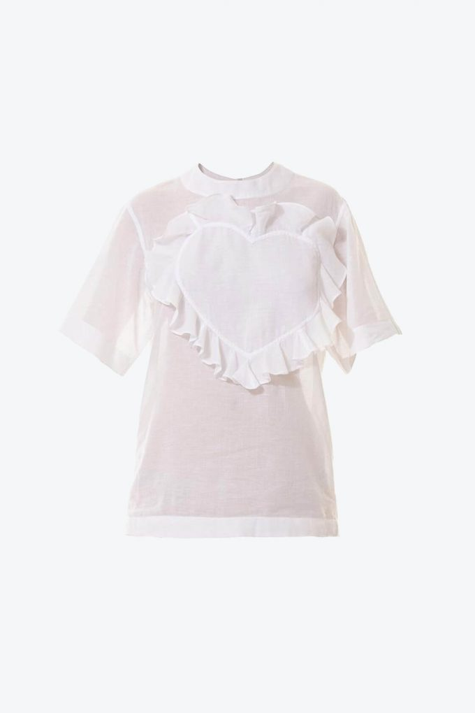 OL10000195 Ruffle heart batista blouse1B