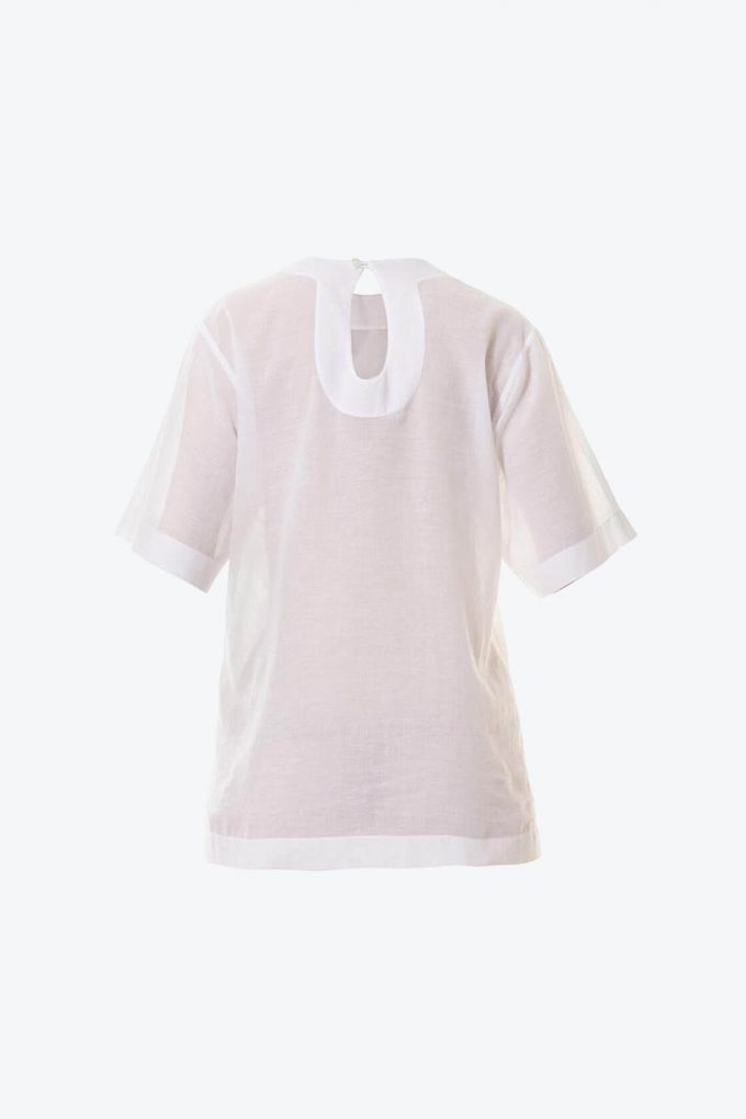 OL10000195 Ruffle heart batista blouse2