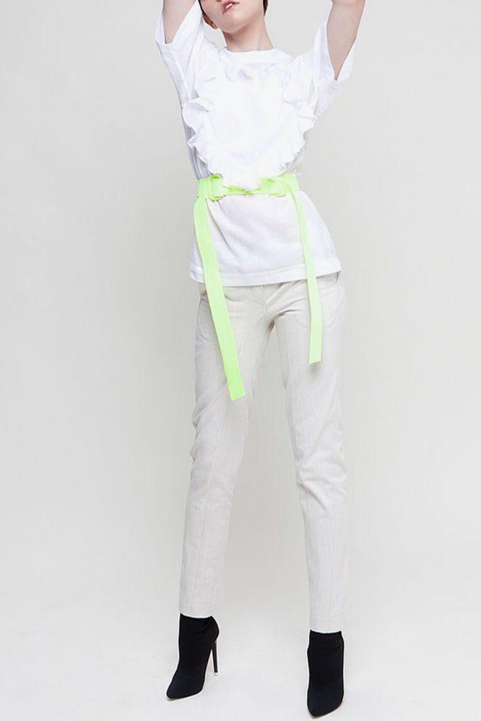 OL10000195 Ruffle heart batista blouse3