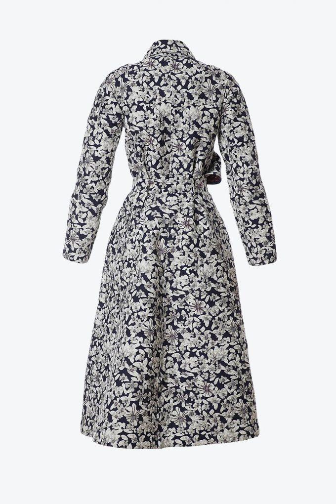 OL10000198 Jacquard ruffle coat2