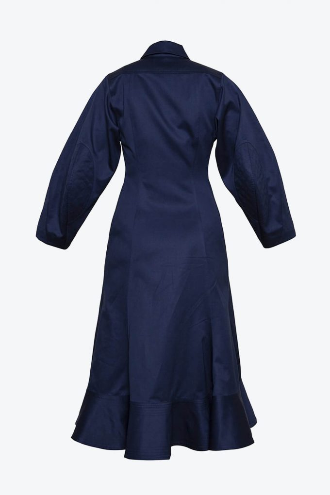 OL10000206 Wide sleeve dress navy blue2