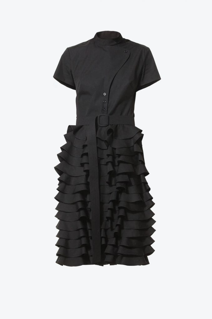 Ol10000210 Little Black Ruffle Dress1B