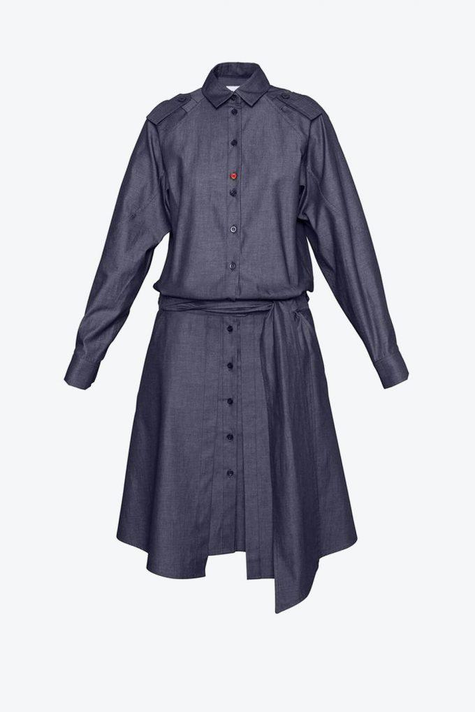 OL10000211 Denim shirt dress1B