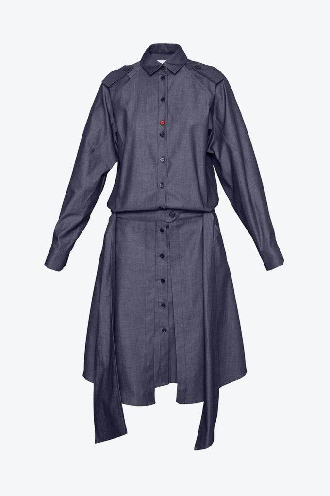 OL10000211 Denim shirt dress2