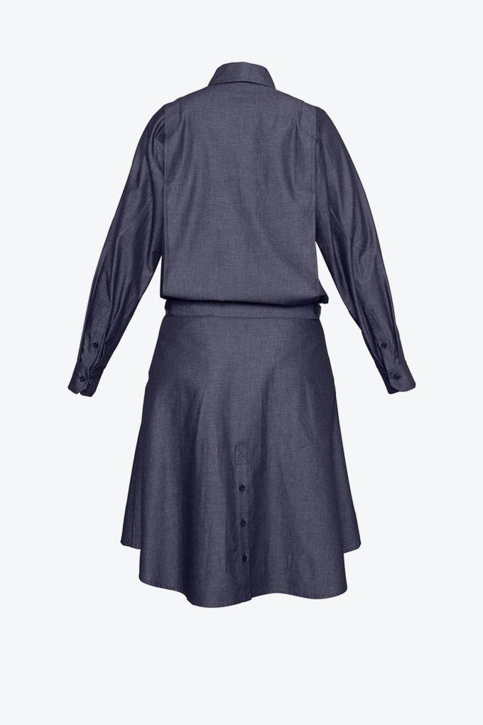 OL10000211 Denim shirt dress3