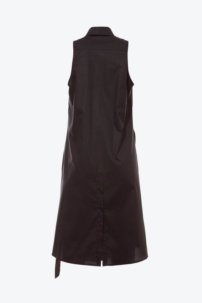 OL10000213 Sleeveless trapeze shirt dress2