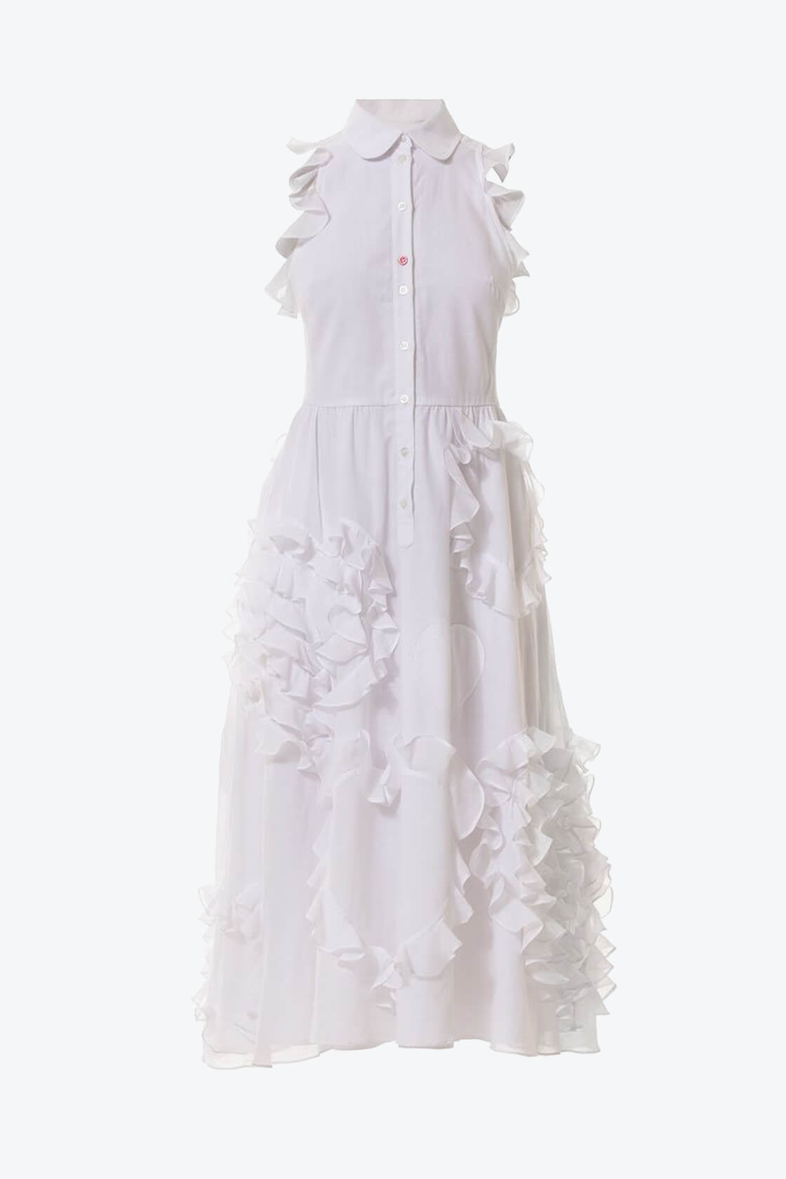 OL10000215 Ruffled hearts batiste A line dress1