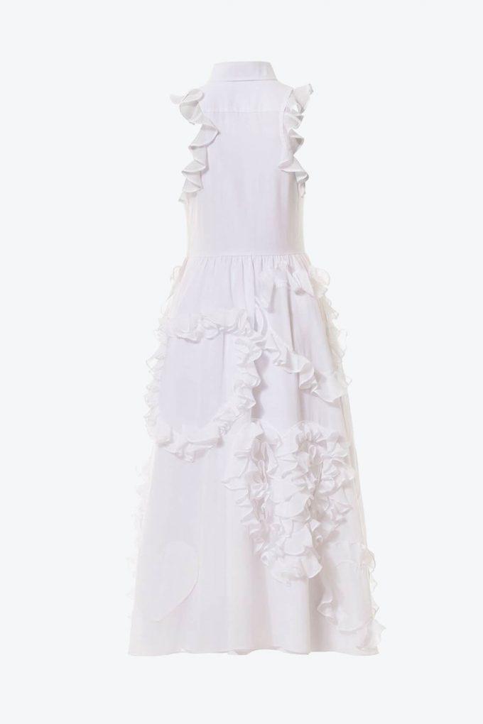 OL10000215 Ruffled hearts batiste A line dress2