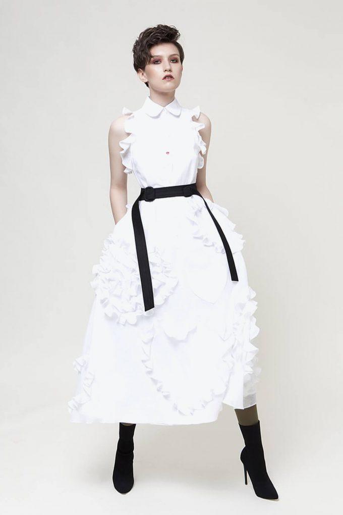 OL10000215 Ruffled hearts batiste A line dress3